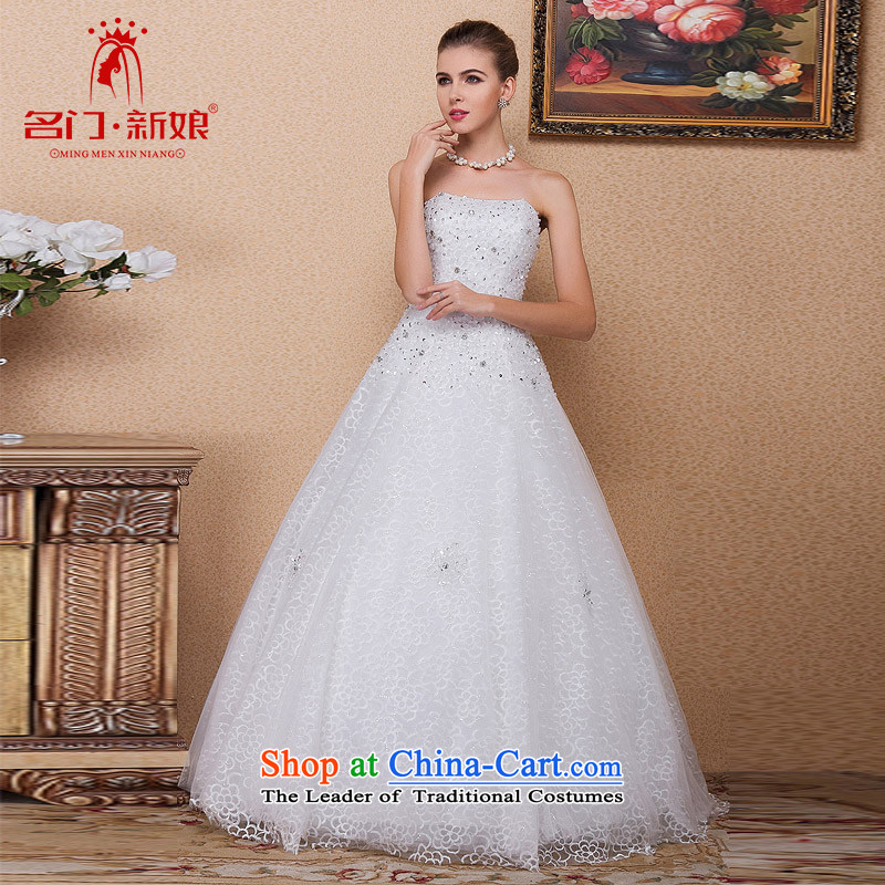 A聽new bride 2015 wedding manually staple pearl聽A Wedding dress to align the wedding 541 L