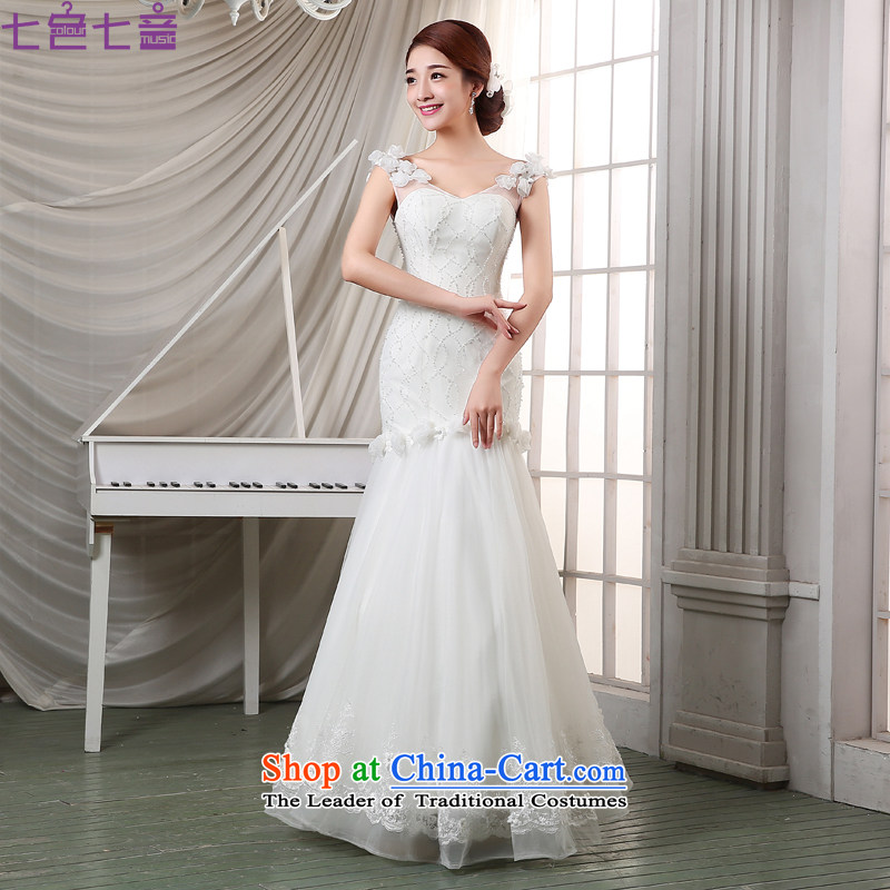 7 Color 7 tone Korean new 2 205 shoulder straps to align graphics thin lace retro crowsfoot wedding�H003�white�S