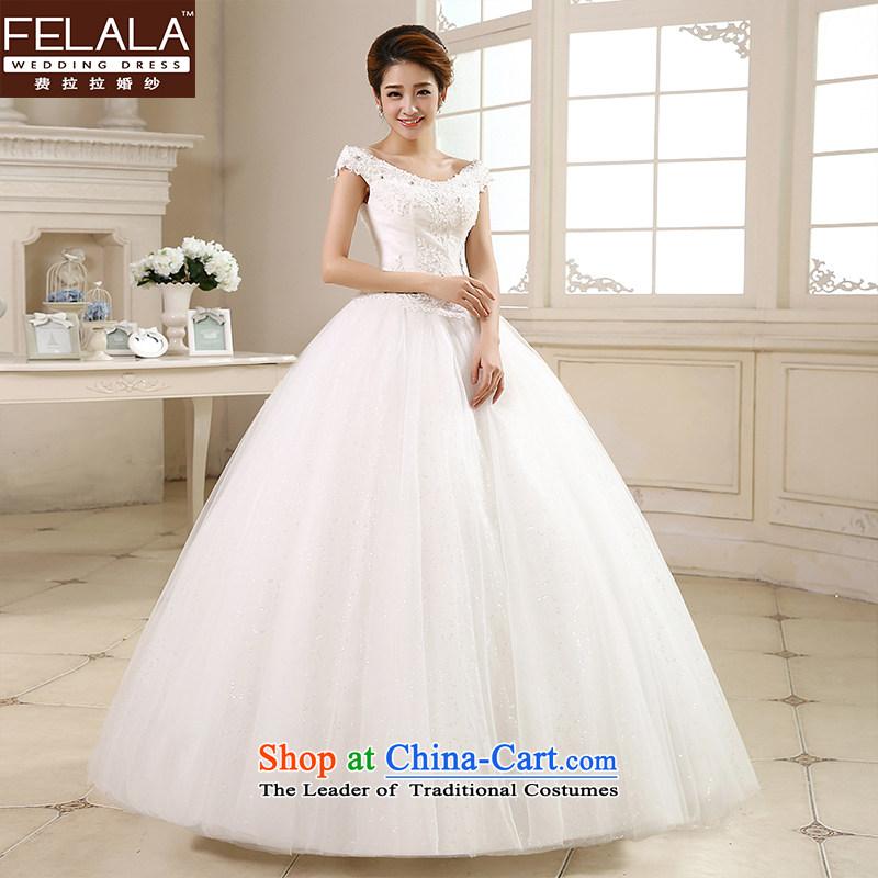 Ferrara ♀ wedding dresses?2015 new Korean word sweet shoulder bon bon yarn bride wedding video?XL_2 thin gauge 2