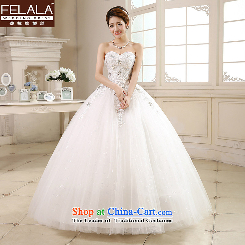 Ferrara 鈾� wedding dresses new 2015 Korean wiping the chest deep V-neck to align the princess bon bon skirt lace simple drill summer聽S_1 feet 9_
