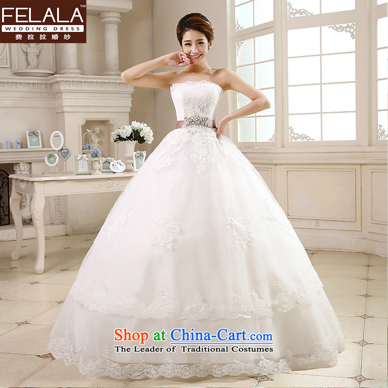 Ferrara �� 2015 new wedding dresses alignment with Chest Korean style wedding Foutune of video thin wedding summer?S(1 feet 9)