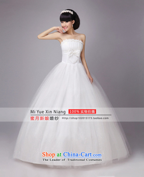 Honeymoon bride wedding PEARL FLOWER bride wedding wedding dresses new 2015 princess sweet wedding White M pictures, prices, brand platters! The elections are supplied in the national character of distribution, so action, buy now enjoy more preferential! As soon as possible.