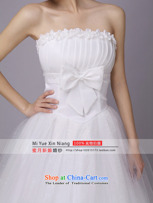 Honeymoon bride wedding PEARL FLOWER bride wedding wedding dresses new 2015 princess sweet wedding White聽M pictures, prices, brand platters! The elections are supplied in the national character of distribution, so action, buy now enjoy more preferential! As soon as possible.