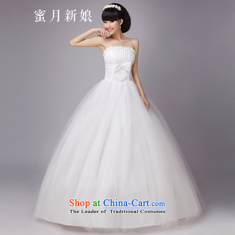 Honeymoon bride wedding PEARL FLOWER bride wedding wedding dresses new 2015 princess sweet wedding White M