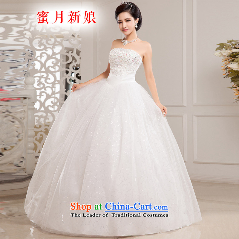 Honeymoon bride wedding dresses聽2015 new Korean diamond on chip and chest wedding to align with the princess wedding white聽XS