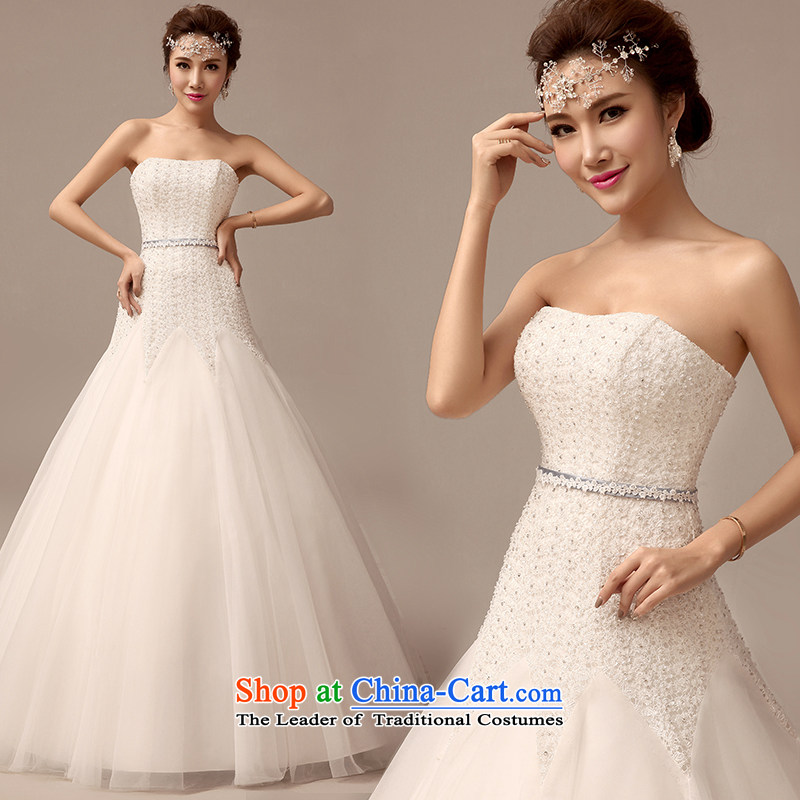 Clean the?new 2015 erase flash animated chest lace wedding dresses Korean Sau San tie A field petticoats wedding white?S