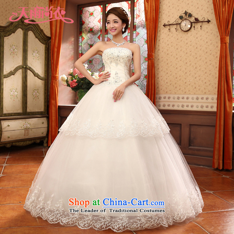 Rain-sang yi聽2015 new wedding Korean Diamond Luxury depilation chest straps wedding elegant white to align the wedding HS932 white Suzhou shipping聽S