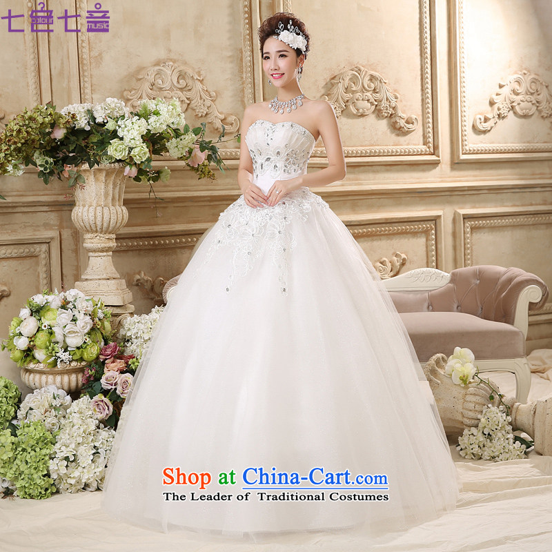 7 Color 7 tone won 2015 Summer new version on the drilling straps align with Chest Sau San wedding dresses?H020?tailored White