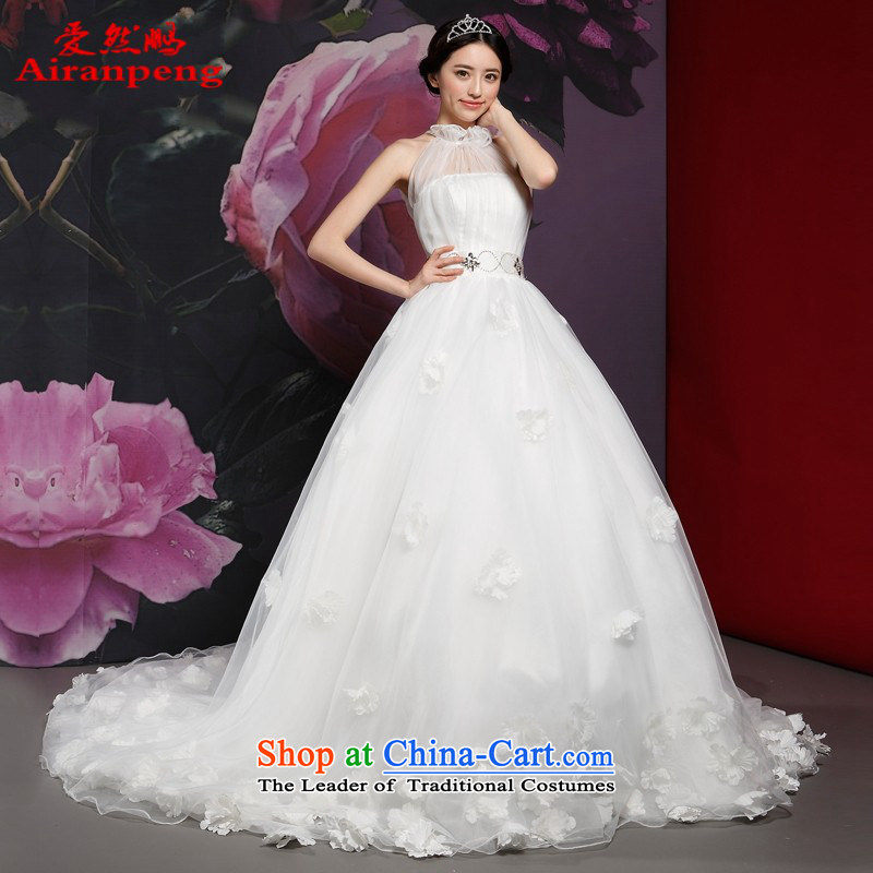 Love So Peng wedding tail-type also dress in the summer of 2014 the new bride elegant lace)�do not need to be XXL returning