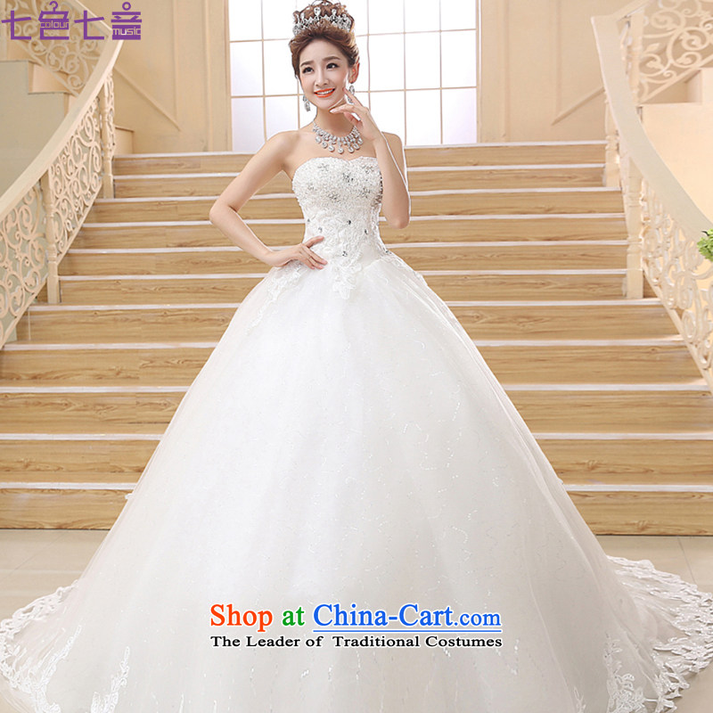 7 Color 7 tone Korean New Korea 2015 summer edition chic simplicity and chest code deluxe long tail wedding dresses?H022?white tailored _does not allow_