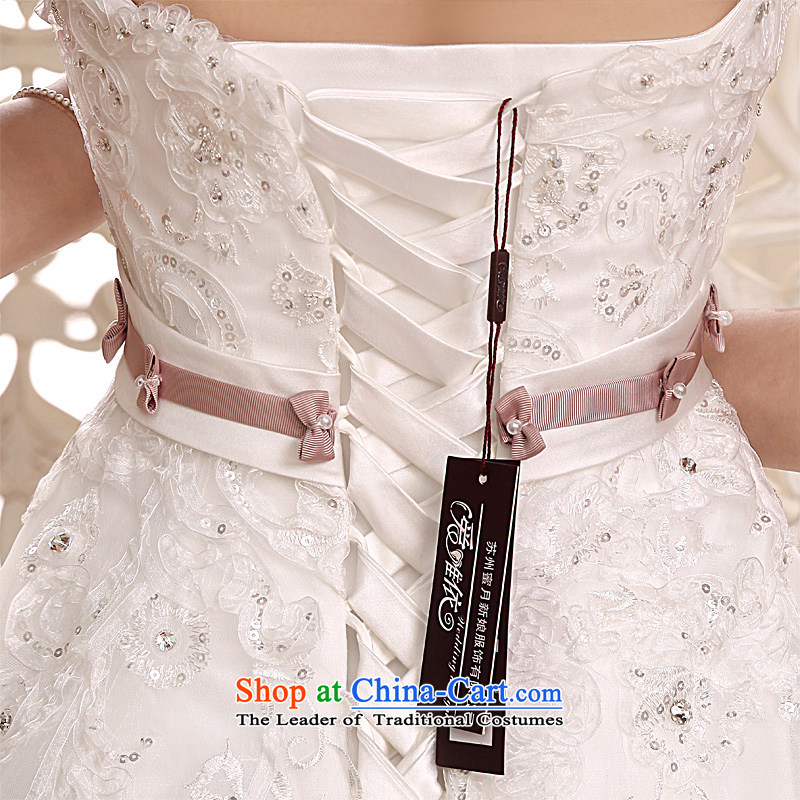 Honeymoon bride 2015 new products wedding dress sense of classical Bow Ties With chest wedding align to bind with Wedding White M honeymoon bride shopping on the Internet has been pressed.