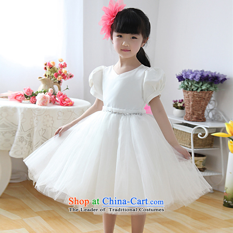 Shared Keun guijin children dress skirt princess skirt girls wedding dresses flower girl children's wear dresses skirt bon bon skirt dresses t26 m White聽12 scheduled 3 days from Suzhou Shipment