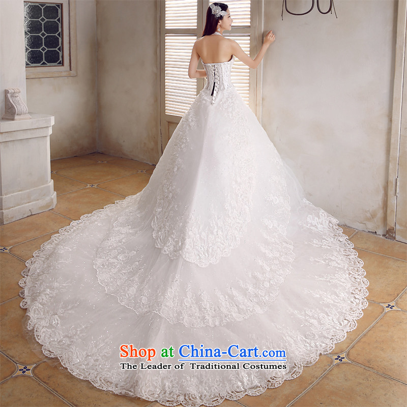 Honeymoon bride 2015 Summer Wedding Korean sexy hang also align the wedding to diamond tail straps wedding white streak of?S