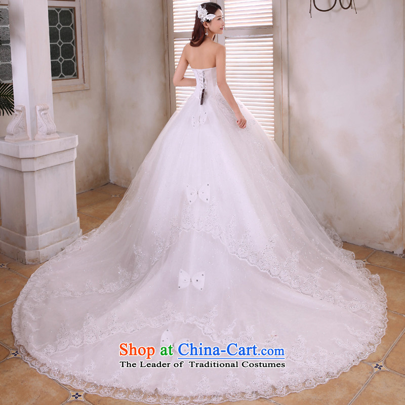 Honeymoon bride 2015 tail wedding Korean sweet Princess on chip and chest straps wedding tail of white聽S honeymoon bride shopping on the Internet has been pressed.
