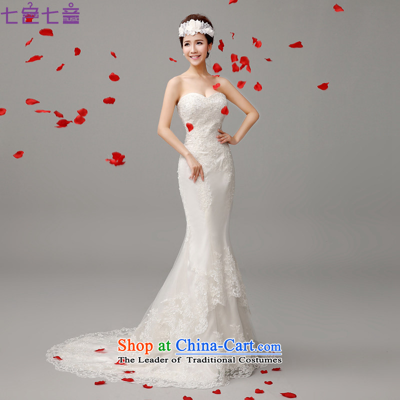 7 Color 7 tone won 2015 Summer new version and chest straps lace retro Sau San crowsfoot wedding tail wedding dresses H028 white S