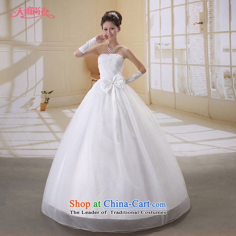 Rain-sang Yi marriages new wedding Korean style wedding diamond Princess Mary Magdalene chest wedding to align the wedding HS801 white聽L