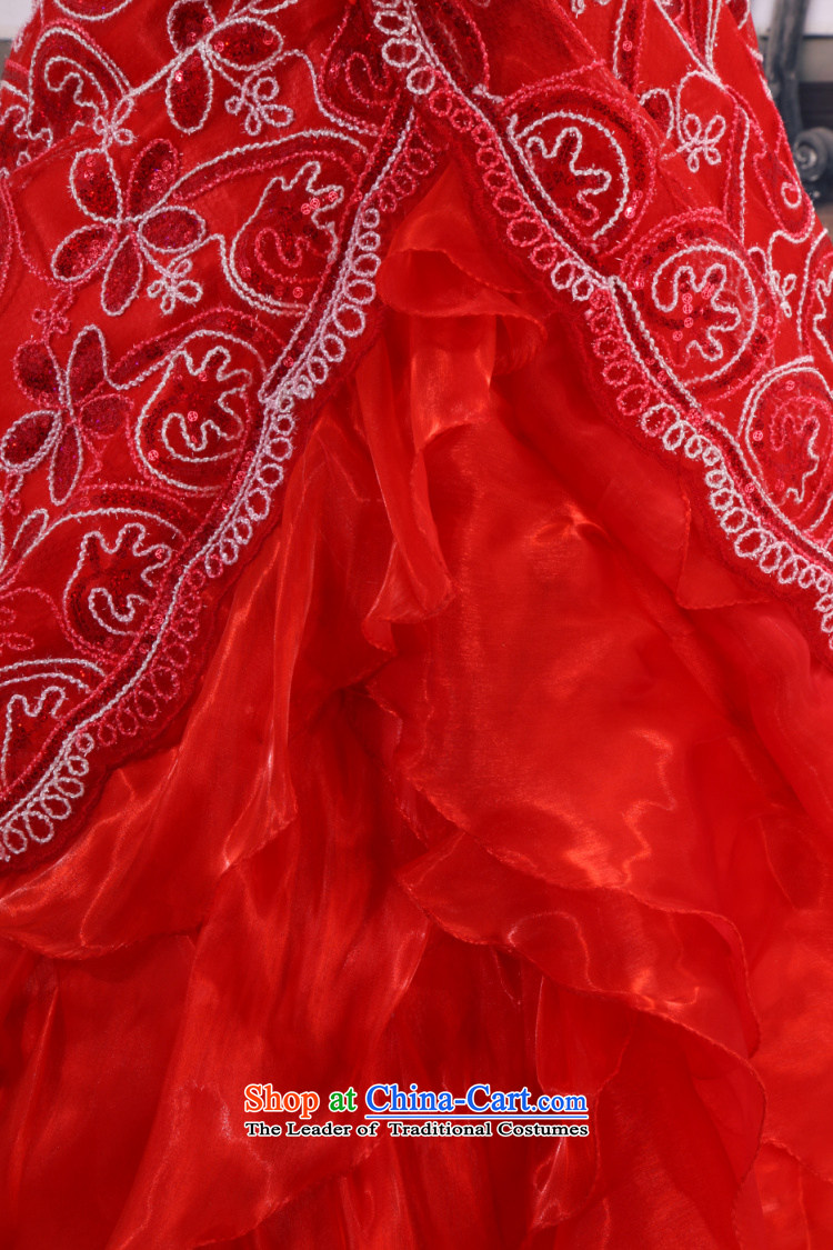 Yong-yeon and 2015 New wedding dresses red lace wedding Korean Princess wedding marriage red wedding bride wedding atmosphere to align the red聽XXL not returning the picture, prices, brand platters! The elections are supplied in the national character of distribution, so action, buy now enjoy more preferential! As soon as possible.