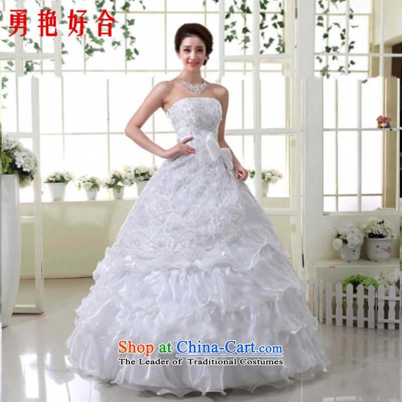 Yong-yeon and 2015 New wedding dresses red lace wedding Korean Princess wedding marriage red wedding bride wedding atmosphere to align the red聽XXL not returning, Yong-yeon and shopping on the Internet has been pressed.