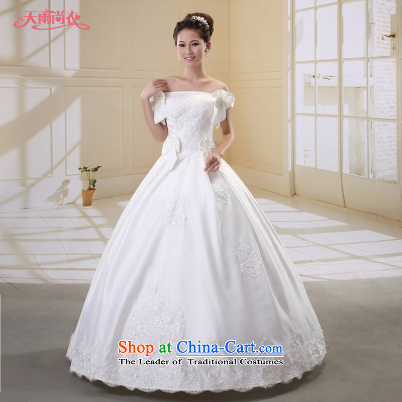 Rain-sang Yi marriages 2015 Princess Korean style wedding PEARL FLOWER WHITE slotted out White gauze nails shoulder�HS807 Pearl�White�XL