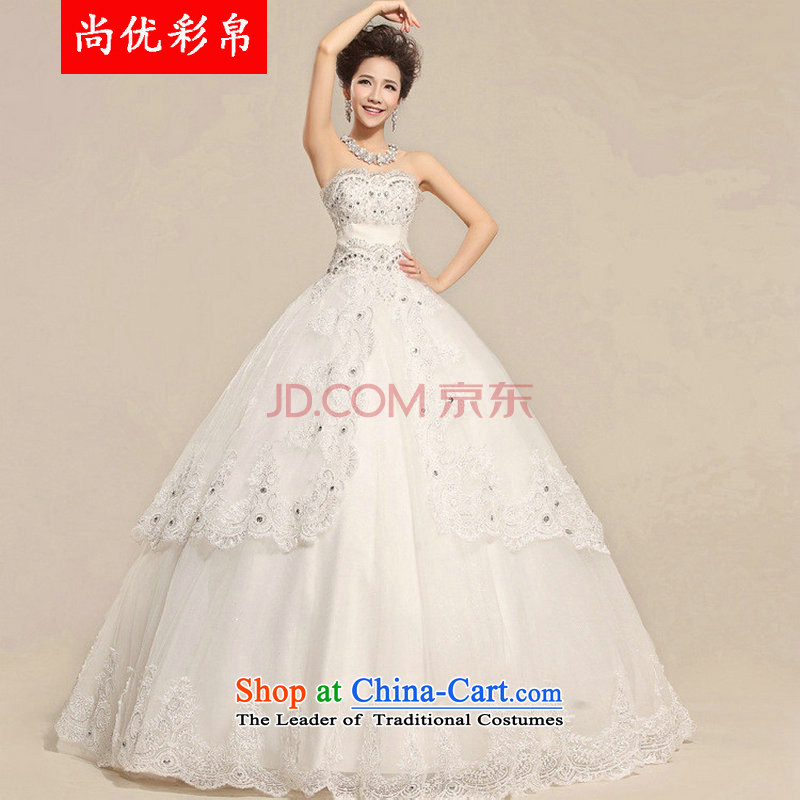 There is also optimized 8D 2015 new palace lace Korean anointed chest Princess Bride wedding XS5221 Royal White?XXL Package