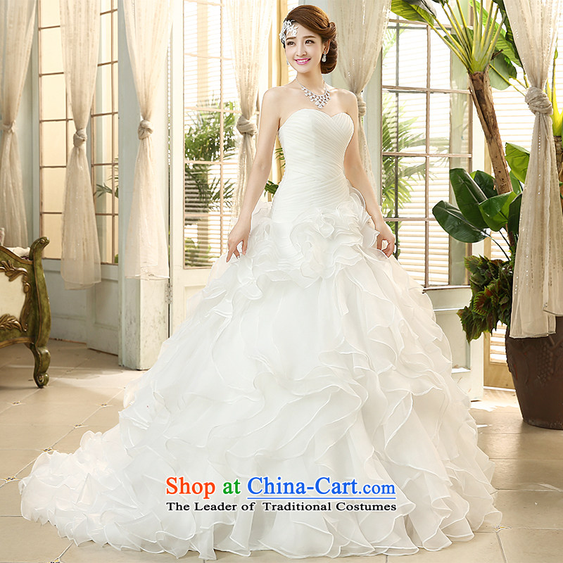 The HIV?2015 Spring/Summer wedding dresses and chest retro Sau San tie niba petticoats Korean sweet princess small trailing?white H-43 Sau San?S