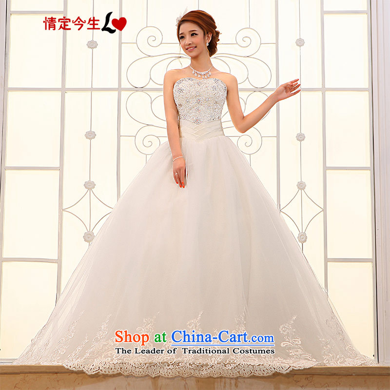 Love of the overcharged by 2015 new wedding dresses to align the Korean Princess Mary Magdalene Chest straps diamond bride to smearing White聽XXL