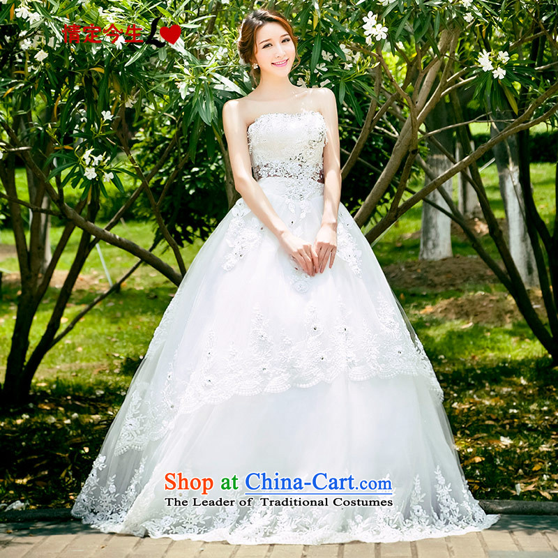 Love of the brainstorming session in spring and summer 2015 women white bride to align the new Korean chest wiped retro wedding dresses and stylish lace, tailor-made exclusively Concept White