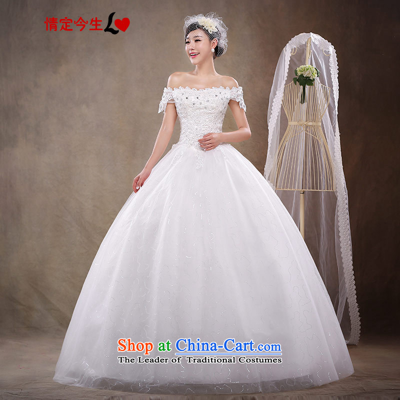 Love of the overcharged Wedding 2015 new Korean word stylish Sweet shoulder to align the Princess Bride video skirt lace thin Foutune of Princess skirt white?XXXL Type