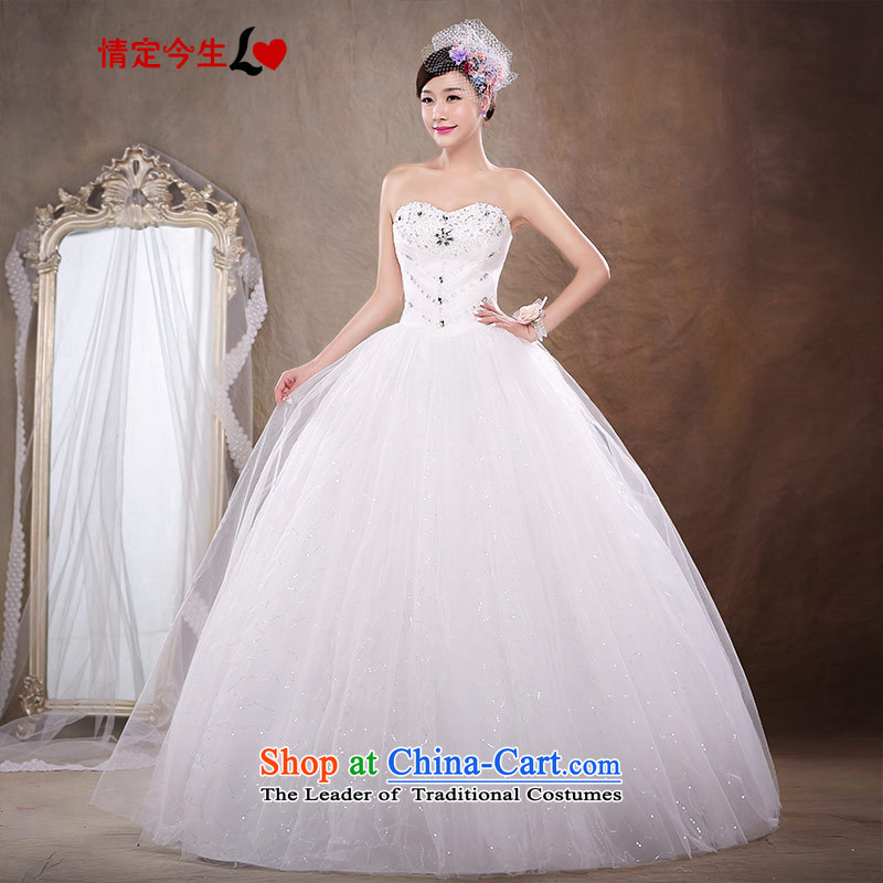 Love of the life of the new 2015 Korean brides to align the white slim body diamond wiping the chest wedding dress shoring princess sweet Foutune of video thin wedding dress female white?S