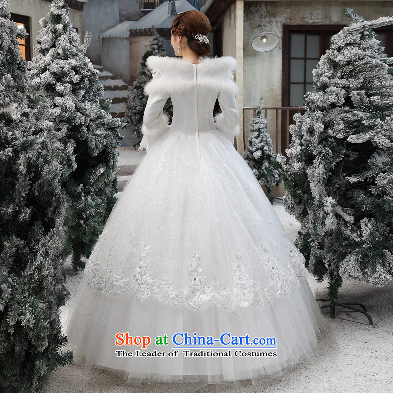 Love of the overcharged wedding dresses new 2015 Korean wiping the chest white autumn and winter Korean marriages to align the drag and drop white S love of the overcharged shopping on the Internet has been pressed.