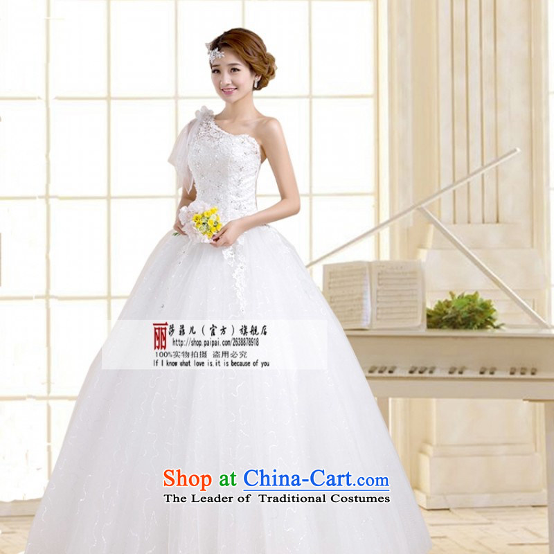 2014 new wedding dresses Korean to align the shoulder strap white wedding fashion retro bride wedding customers to do not returning the size to