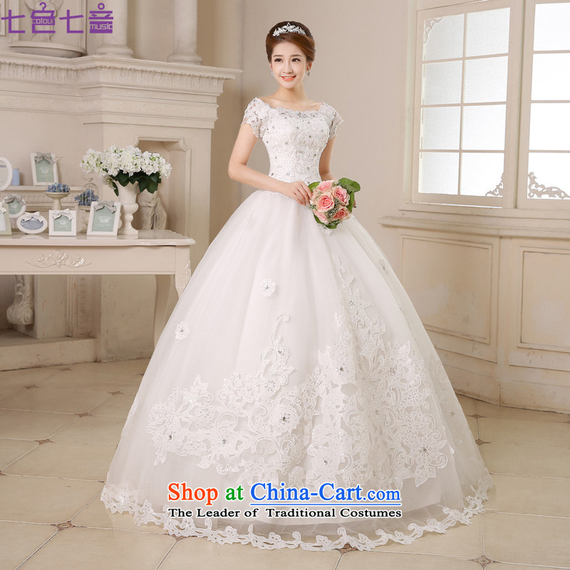 7 color tone won seven new version 2015 to align with the word shoulder bon bon skirt Princess Bride wedding dresses?H035?white to align the?M