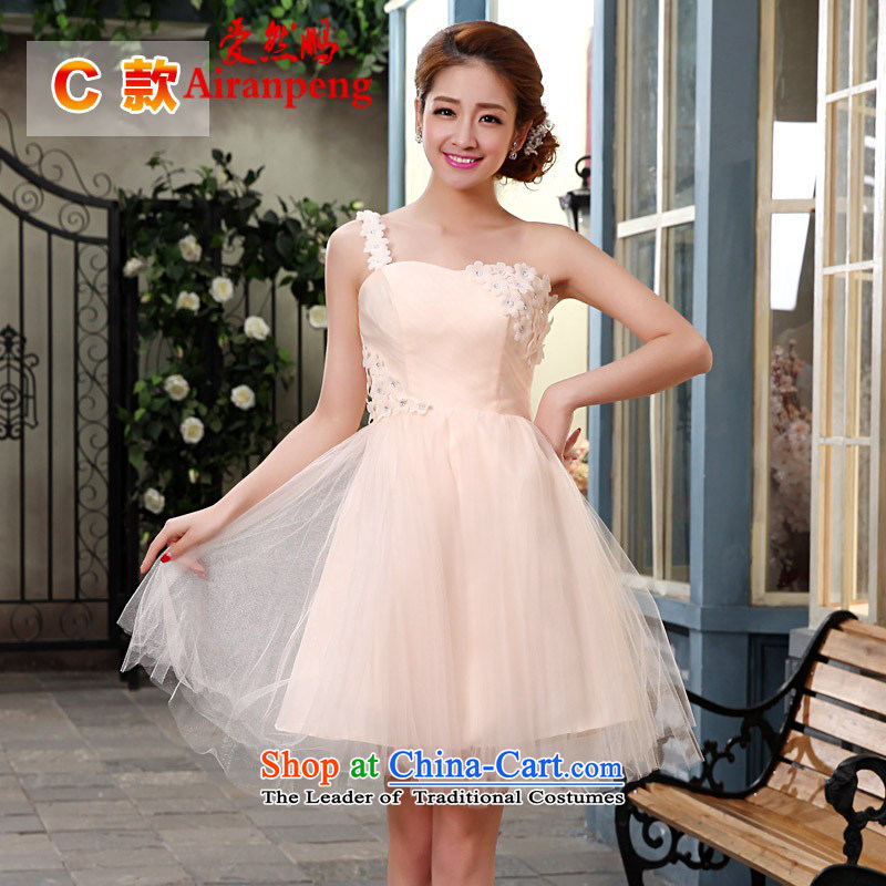 Love So short-pang, bridesmaid mission sister skirt bride wedding dress 2014 new lace evening drink small wedding dresses female?C NEED TO DO NOT XXL returning
