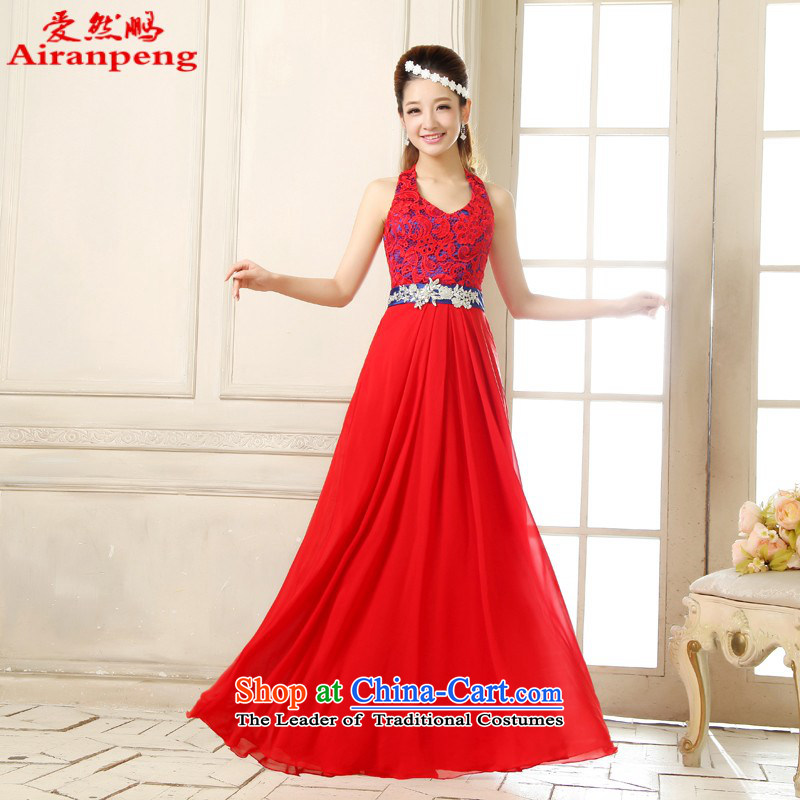 Love So new dress Peng red long marriage wedding services brides bows bridesmaid short, shoulders Sau San female dresses?XL package returning