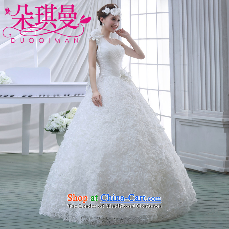 Flower Angel Cayman 2014 New Princess Korean edition shoulder spring and summer fun finalities marriages wedding dresses shoulder white?S
