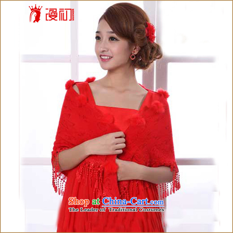 At the beginning of Castores Magi wedding shawl bride wedding dress shawl new Korean warm Red Shawl Red