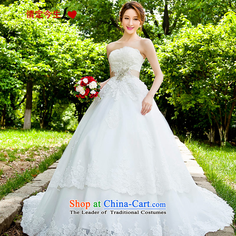 Love of the overcharged?by 2015 the new Korean style wedding dresses and tail chest skirt bride lace marriage female tail?XXXL)