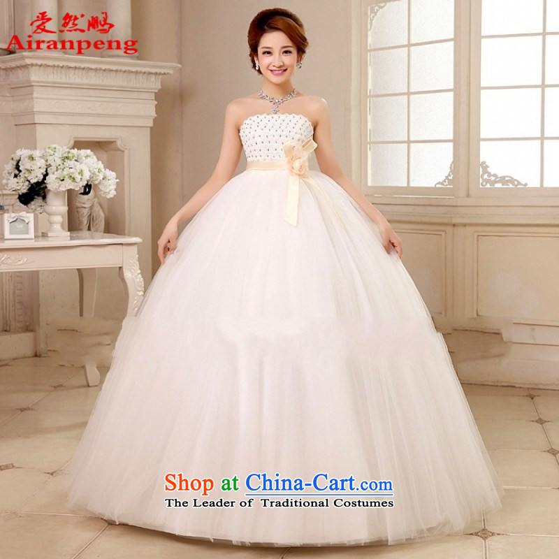 Love So Peng 2014 new Korean Top Loin of wiping the chest pregnant women wedding dresses align to bind with the large number of marriage wedding?package returning XL