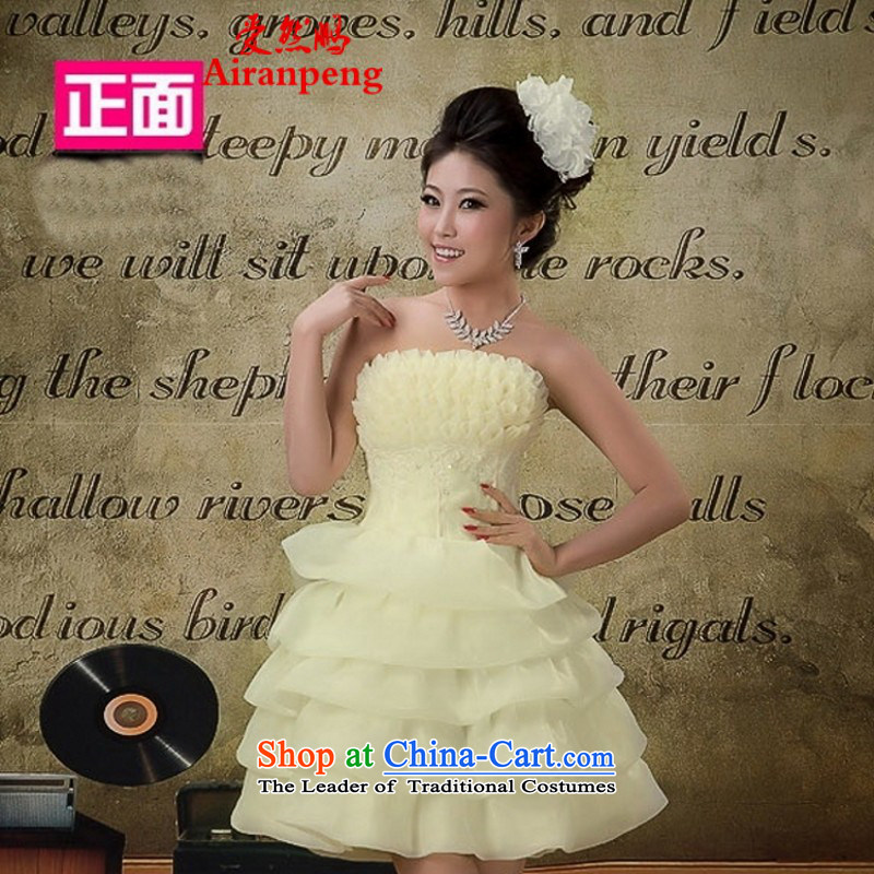 Love So New Peng 2014 bridesmaid small Dress Short, Wedding Dress short skirt dress dresses female customers to the size of the spring to be refunded