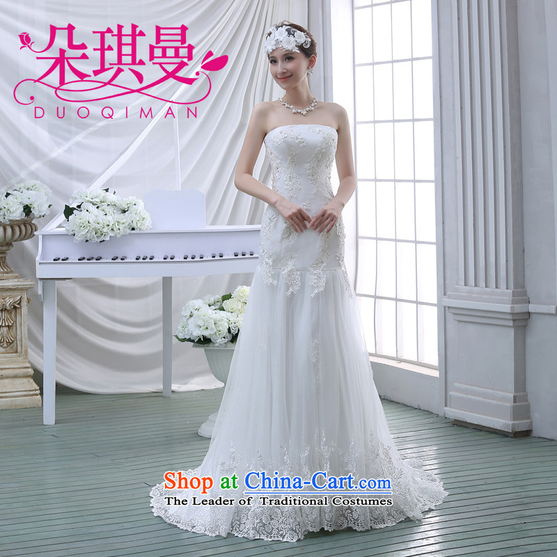 The 2014 summer wedding dresses, Korean anointed chest graphics skinny tail wedding lace straps princess wedding?L