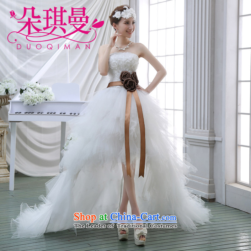 Flower Angel Rom��n front stub up wedding short of 2014 Summer new stylish and chest straps diamond Sau San)?XL