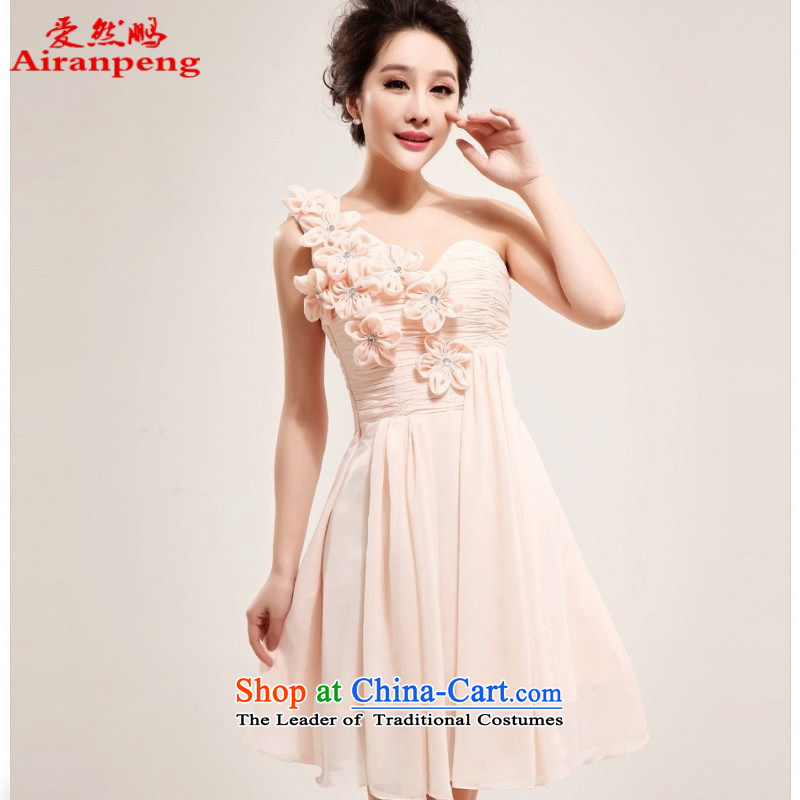 The Korean version of love so Peng shoulder pink bride wedding dresses with small wedding short of Princess bridesmaid services 2014 New 5177 may be raised when creating databases do not need to be XXL returning