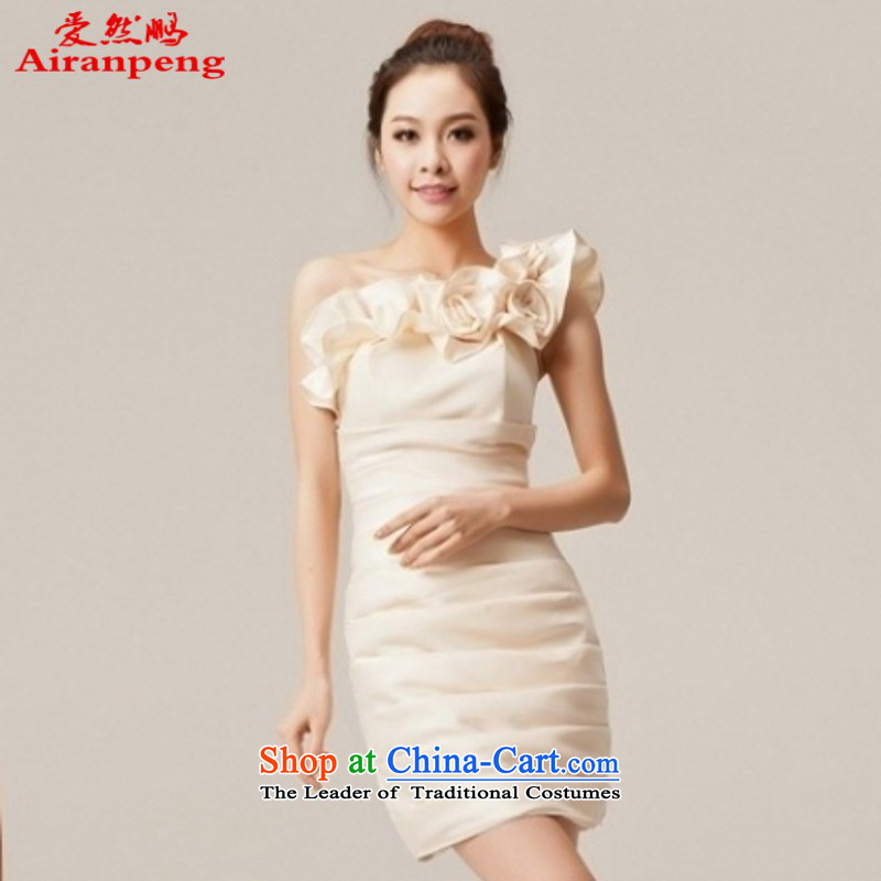 Bridesmaid Dress Short of small dress marriages bows services evening dresses Beveled Shoulder bridesmaid services customer to do not returning the size to