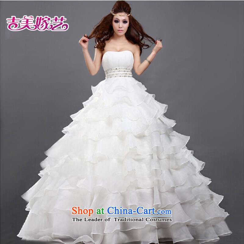 Wedding dress Kyrgyz-american married new anointed arts 2015 Chest Korean skirt larger align princess HS182 to bride wedding?XXXL White