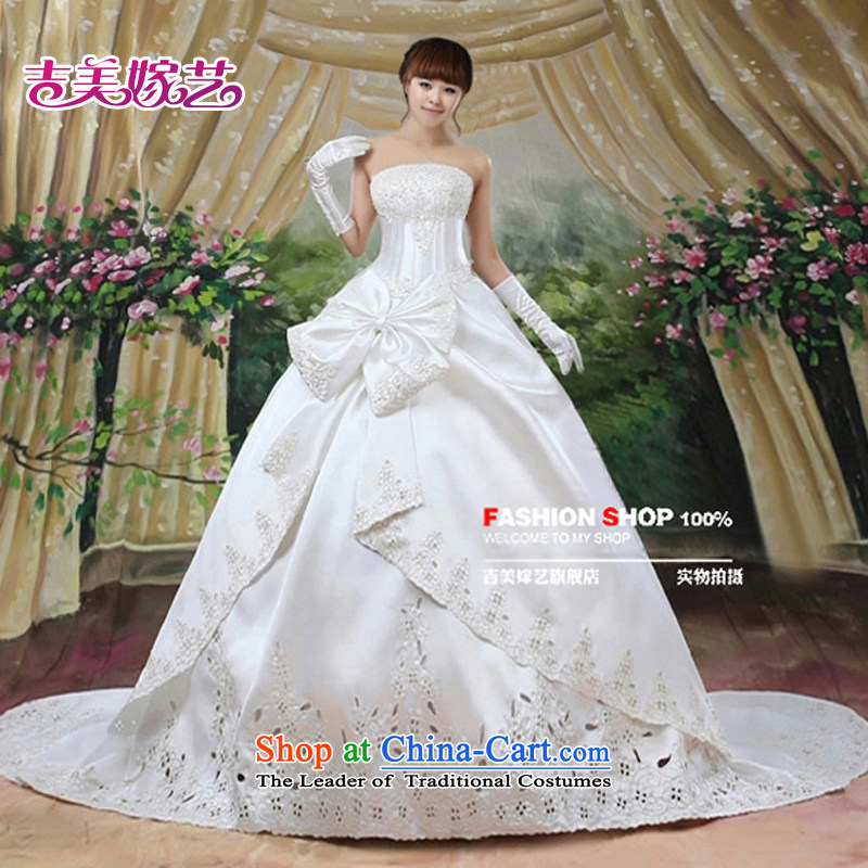 Wedding dress Kyrgyz-american married new anointed arts 2015 Chest Korean skirt to align bon bon HS403 bride wedding white L