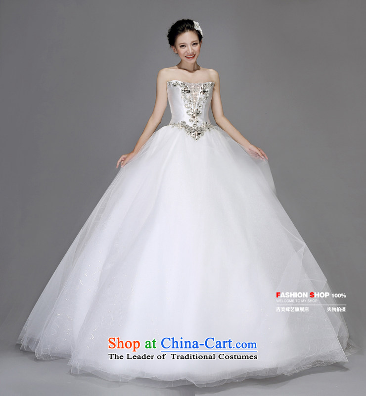 Wedding dress Kyrgyz-american married new anointed arts 2015 Chest Korean skirt to align bon bon AS250 bride wedding pictures, price White XXL platters, brand! The elections are supplied in the national character of distribution, so action, buy now enjoy more preferential! As soon as possible.