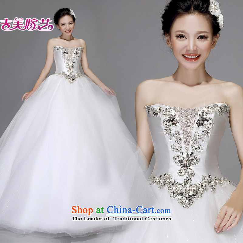 Wedding dress Kyrgyz-american married new anointed arts 2015 Chest Korean skirt to align bon bon AS250 bride wedding White聽XXL