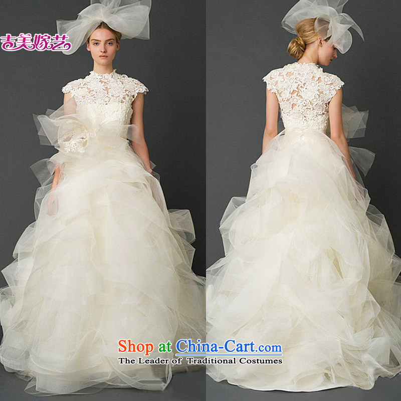 Wedding dress Kyrgyz-american 2015 New Wang weiwei vera wang lace HS7311 to align the bride wedding White�XL