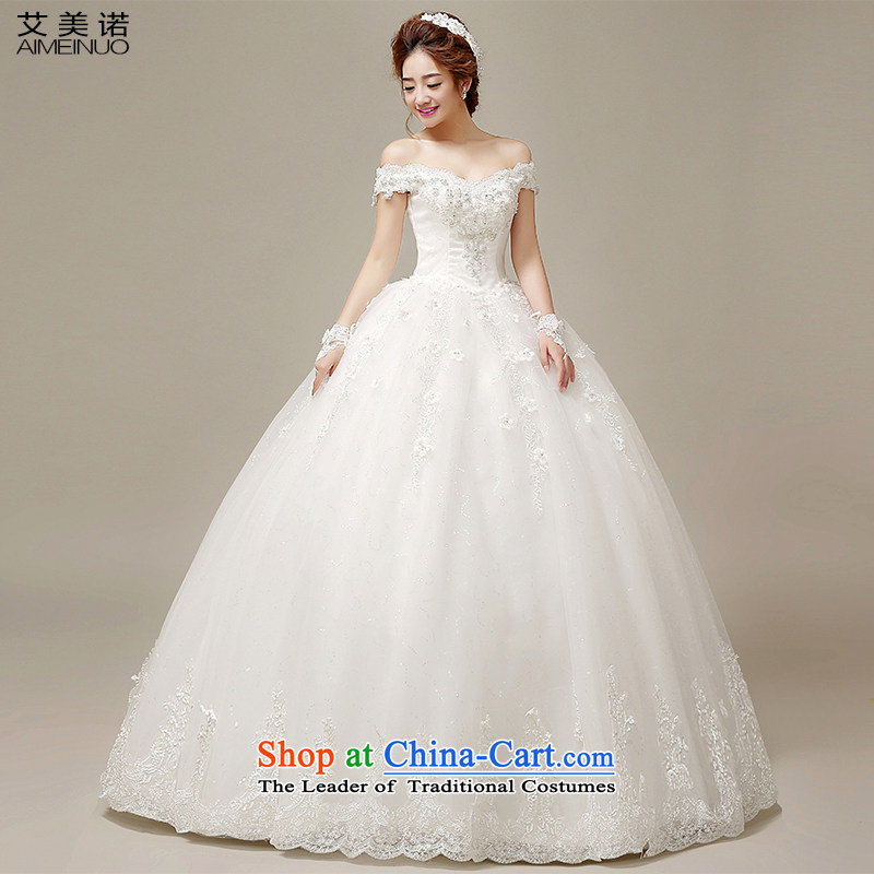 Hiv Miele wedding dresses 2015 Spring/Summer retro-shoulder lace manually take the strap to align the Korean version of the Princess Bride Wedding White?M