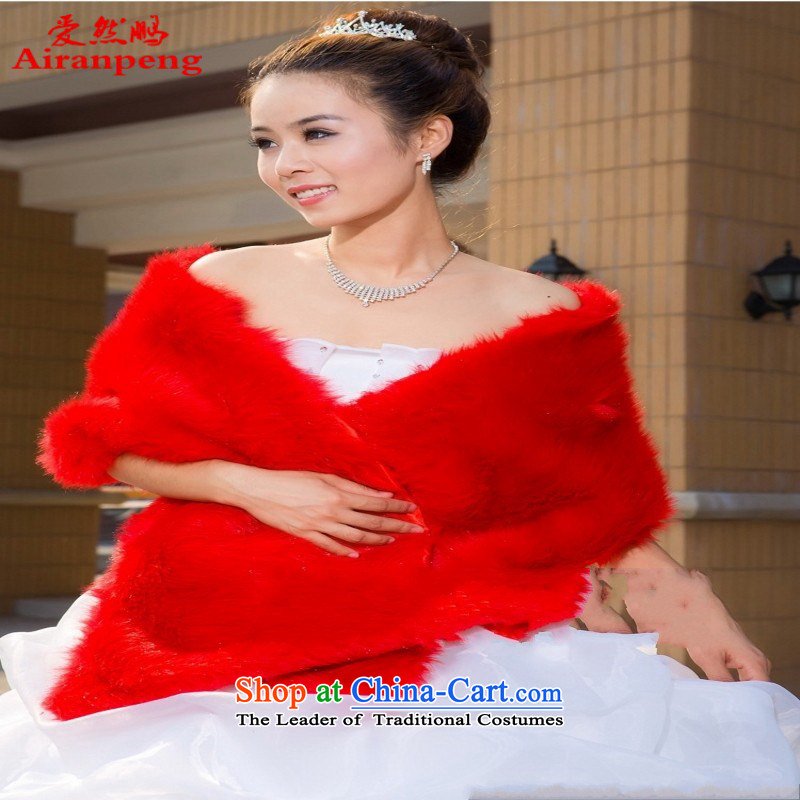 The timeout value ~ minimalist warm bride wild shawl plush shawl PJ-0001 red